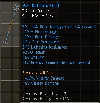 Azi Dahak's Staff