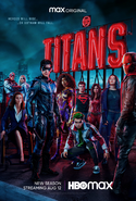 Titans season 3 poster - Heroes Will Rise... ...or Gotham Will Fall