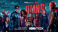 Titans season 3 banner - Heroes Will Rise... ...or Gotham Will Fall
