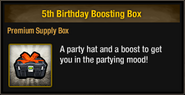 5th Birthday Boosting Box package view