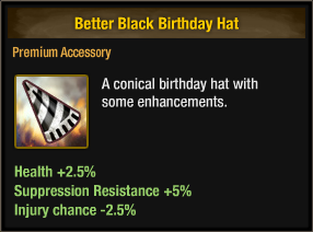 Better Black Birthday Hat