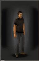 TLSDZ T-Shirt - Black equipped male