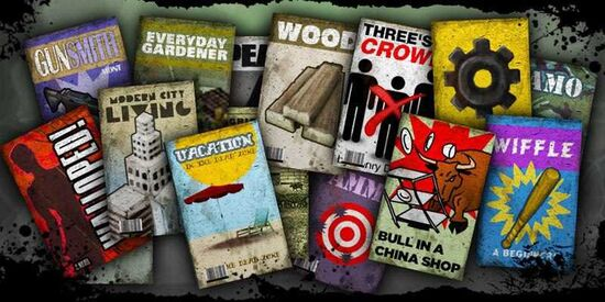 An assortment of books from The Last Stand: Dead Zone.