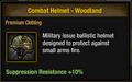 Tlsdz combat helmet - woodland