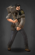 Survivor with Improvised Sledge