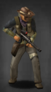 Survivor with suppressed scoped MP7
