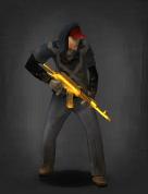 Survivor with Golden AK-47