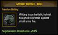 Combat Helmet - DCU