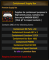 Containment Supply Box Variant 1