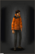 Winter Coat - Orange equipped female