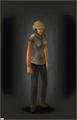 Combat Helmet - Tan equipped female