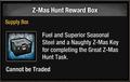 Z-Mas Hunt Reward Box in inventory