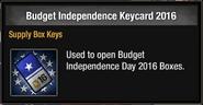 Budget Independence Keycard 2016