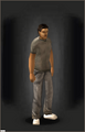 Sweatpants - Grey equipped male
