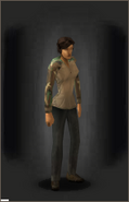Tactical Camo Shirt - Woodland equipped female