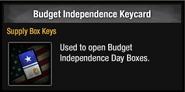 Budget independence keycard