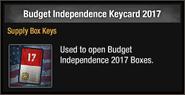Budget Independence Keycard 2017