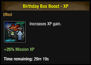 Birthday Box Boost - XP