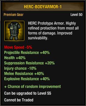 HERC Prototype Armor