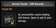 Ammo cache 500 round