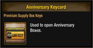 Anniversary Keycard 2018