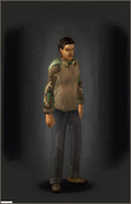 Tactical Camo Shirt - Woodland equipped male