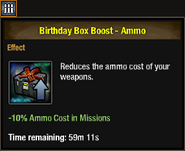 Birthday box boost ammo