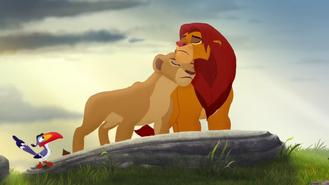 Simba i Nala smutni