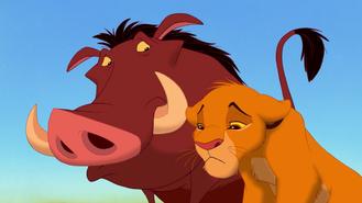 Pumba i smutny Simba