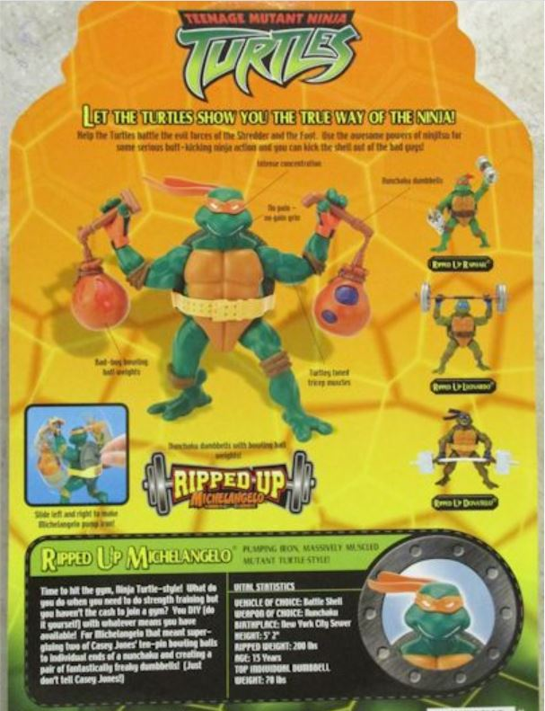 Ripped-Up Michelangelo (2004 action figure)