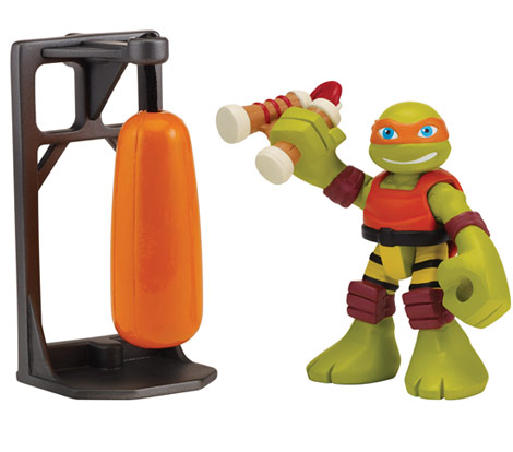 Half-Shell Heroes Dojo Mikey with Training Bag (2015 action figure)