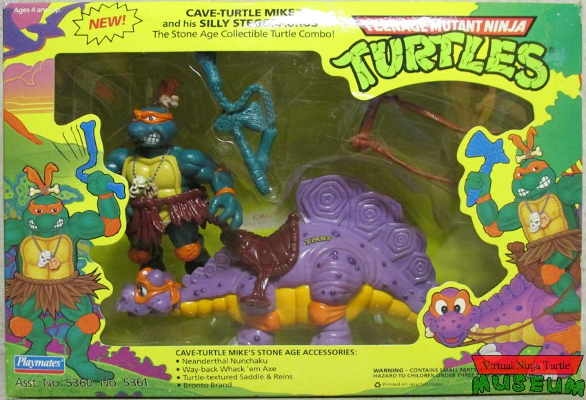 Cave Turtle Mike and his Silly Stegosaurus (1993 action figure)