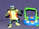 Surfer Leo with Mondo Mutant Surfer Tube (1994 toy)