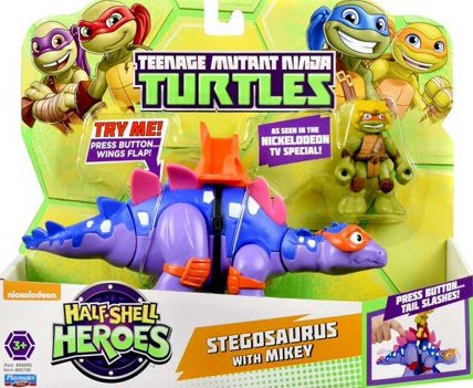 Half-Shell Heroes Stegosaurus with Mikey (2015 action figures)