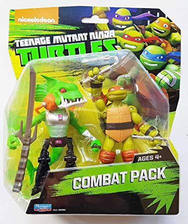 Combat Pack (Michelangelo & Fishface) (2014 action figure pack)
