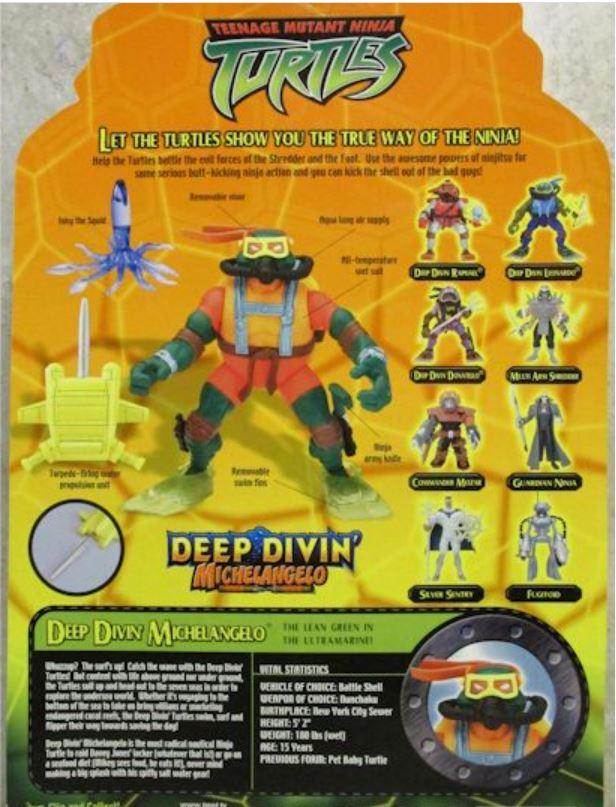 Deep Divin' Michelangelo (2004 action figure)