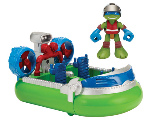 Half-Shell Heroes Hovercraft with Sea Rescue Leo (2015 toy)