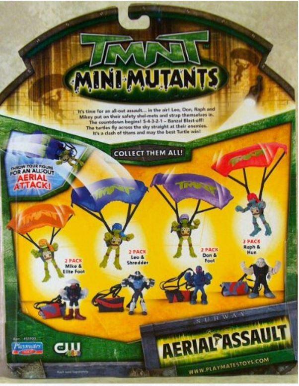 Mini-Mutants Aerial Assault Leo vs. Shredder (2009 mini-figures)