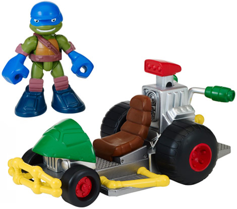 Half-Shell Heroes Patrol Buggy with Racer Leo (2014 toy)
