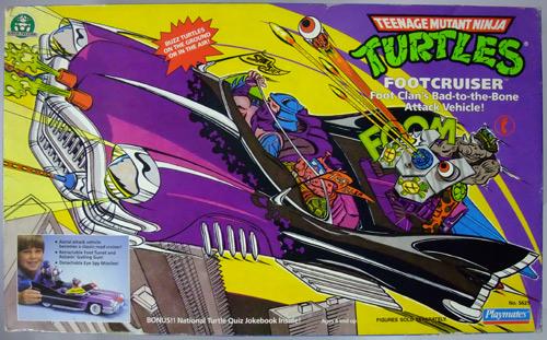 1989 Teenage Mutant Ninja Turtles partie footcruiser foot Cruiser rétractable Noir Pneus