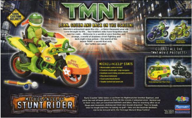 Michelangelo Stunt Rider (2007 action figure)