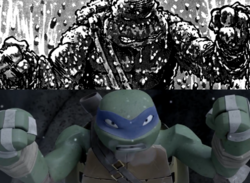 Leonardo in snow and mud.png