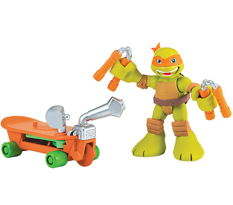 Half-Shell Heroes Mikey with Skateboard (2014 action figure)