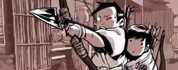 Arrow saki and yoshi