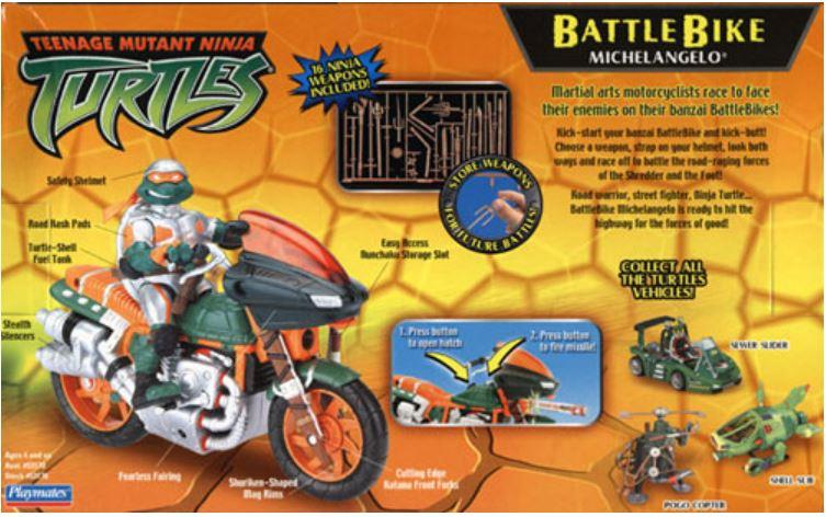 Battle Bike Michelangelo (2004 action figure)