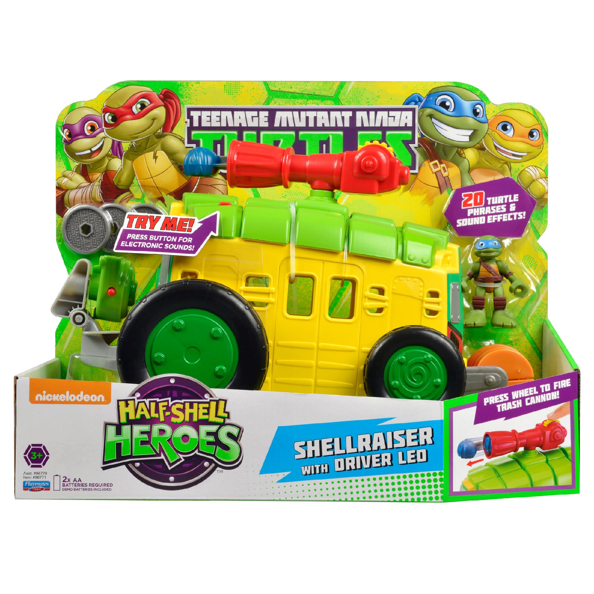 Half-Shell Heroes Shellraiser with Driver Leo (2014 toy)