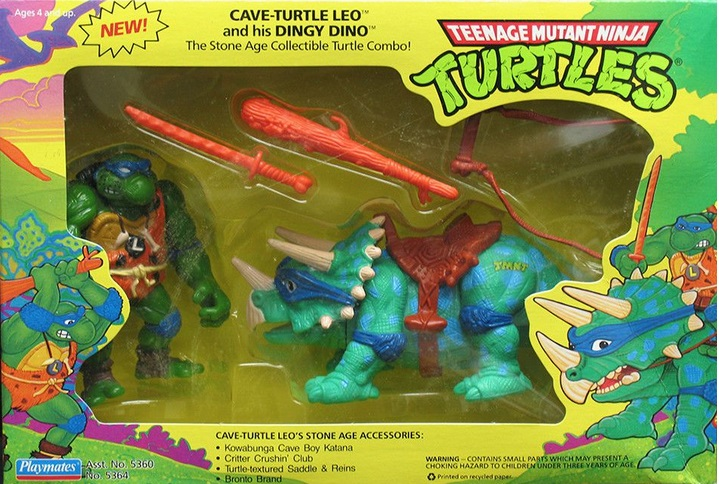 Cave Turtle Leo and his Dingy Dino (1992 action figure)
