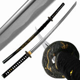 Katana-decoration-beau-katana-w-gold-dragon-tsuba-and-scabbard-40-inch-of-katana-decoration