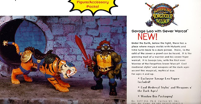 Savage Leo with Sewer Warcat (unreleased action figure)