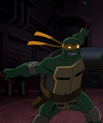 Batman vs tmnt - michelangelo
